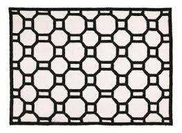 black and white geometric rug. chain reaction black white graphic rug hand hook geometric design throw flooring and i