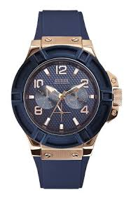 men s watches all buy men s dress sports watches online rigor blue and rose gold tone watch