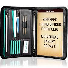 Designer Padfolio Wundermax Portfolio Padfolio 3 Three Ring Binder Document