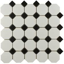 Black And White Flooring Bally Octagon Black White Mosaic Mosaic Wall Tiles From Tile