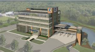 artists rendering of the first national financial park building at 3500 e johnson avenue in
