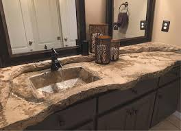 Rugged Concrete Design Of Houston Sink In And Admire The View Concrete Decor