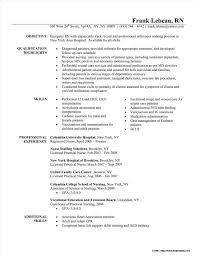 Free Registered Nurse Resume Sample Resume Resume Examples