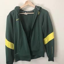 University Of Oregon Fashion Design University Of Oregon Nike Zip Up Jacket Size Small Depop