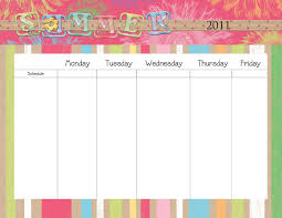 Printable Weekly Calendar Monday Through Friday Magdalene