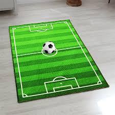kids large small bedroom football pitch floor rug nurcery boys play mats carpets