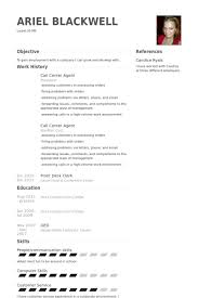 Call Center Agent Resume samples