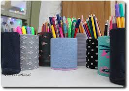 no sew desk organizer pen holders diy