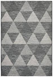 geometric rug black colours harrietta white culture terrace