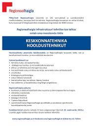 Cv Pohjia Tööpakkumine Keskkonnatehnika Hooldustehnik J Sütiste Tee 19