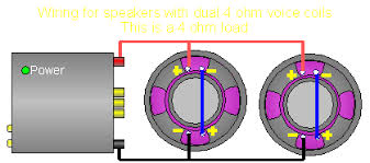 series parallel speaker impedance this gives each speaker an 8 ohm impedance wiring them in parallel will present the amp a 4 ohm load