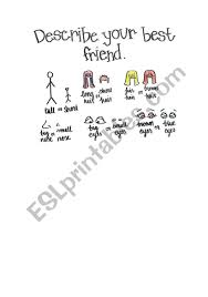 Describe Your Describe Your Best Friend Card Esl Worksheet By Anadecastro