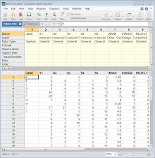 Qc Control Chart Excel Control Chart Constants Excel Statistical Quality Control