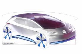 new release electric carVolkswagen Releases Sketches Of New Electric Vehicle