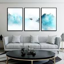 $2.99 Chinese Ink Watercolor Canvas Painting Modern Home ...