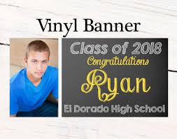 Graduation Photo Banner Personalized Party Banners Class Of 2018
