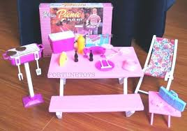barbie furniture dollhouse. Barbie Dollhouse Furniture Size Picnic Benches W Cooler For And