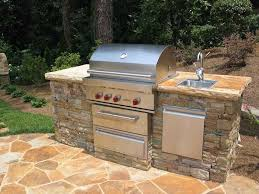 stacked stone grilling station with sink 2 for outdoor grill and sink