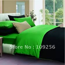 black and green comforter set free ship 100 sateen cotton color luxury bedding 8
