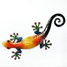 metal gecko wall decoration