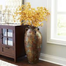 Multi-colored Terracotta Floor Vase - Home Decor Ideas