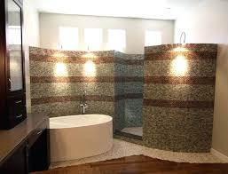 showers without doors bathroom with walk in showers without door built from mosaic tiles in without doors