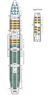 Qantas Boeing 744 Jet Seating Chart Qantas 747 400 Premium Economy Seating Plan Best