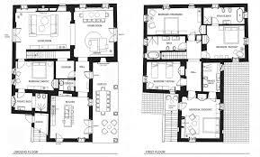 ground floor and first plan round designs