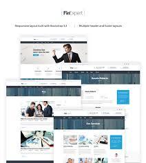 Construction Website Templates Enchanting Business Financial Advisor Website Template