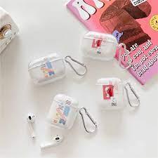 Nóng INS Tiếng Anh Thạch Cao Nghệ Thuật Tai Nghe Điện Thoại Dành Cho Tai  Nghe AirPods 3 2 1 Pro Bluetooth Không Dây Silicone Mềm Tai Nghe  coque|Earphone Accessories