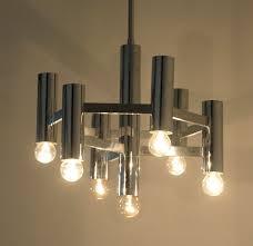Chrome Boulanger Chandelier Pendant 7 Bulb Vintage Light Lamp Etsy