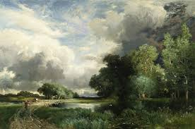 moran painting approaching storm clouds by thomas moran