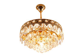 vintage teardrop crystal chandelier from palwa for at pamono with regard to teardrop chandelier