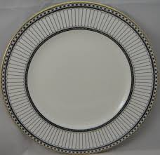 Wedgwood Patterns Fascinating Wedgwood ColonnadeBlack 48 Piece Place Setting