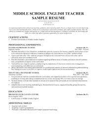 Sample Resume For Elementary Teachers Elementary School Teacher ...