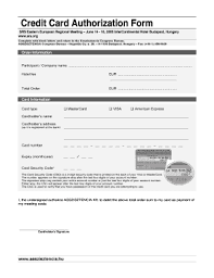 Sheraton Credit Card Authorization Form - Fill Online, Printable ...