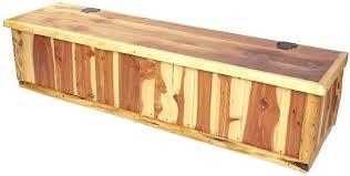 cedar storage bench deck storage bench plans