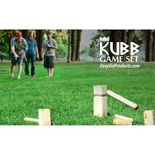 Lawn Game With Wooden Blocks Kubb The Viking Wooden Outdoor Lawn Game Set One 100 100100 x 1100 46