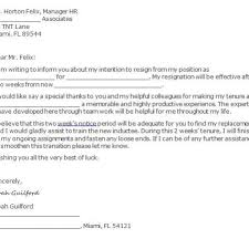 40 Two Weeks Notice Letters & Resignation Letter Templates with ...
