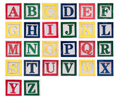 modern wooden block letters alphabet of stock image words