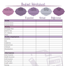 Fun and pretty printable budget worksheet with custom spots to fit ...