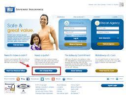 safeway auto insurance quote step 1