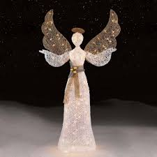 unique lighted angel outdoor christmas decorations for trim a home 56 150ct white angel seasonal