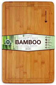 extra large bamboo cutting board 18x12 thick strong bamboo wood cutting board with drip groove