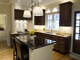 kitchen paint colors with dark cabinets small