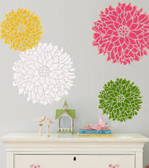 large flower wall stencils for painting wall stencil bold statement flower dalia small size pattern wall room decor trend large flower stencils for walls