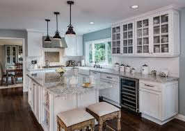 Kitchen Remodels With White Cabinets Backsplash And Countertops