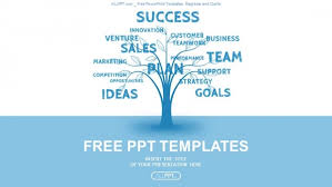 Business Powerpoint Templates Free Concept Blue Word Tree Leadership Marketing Or Business Powerpoint