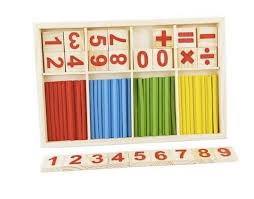 Wooden Math Games 100 Montessori Wooden Number Math Game Sticks Box Maths 83