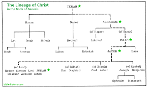 Bible Genealogy Chart The Lineage Of Christ In Genesis Old Testament Charts